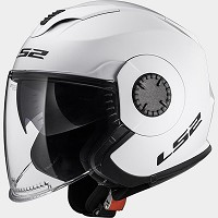 CASCO JET POLICARBONO LS2  - LS2 - OF570 VERSO SOLID WHITE