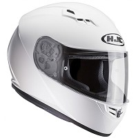 CASCO HJC CS-15 SEMI FLAT SOLIDO BLANCO